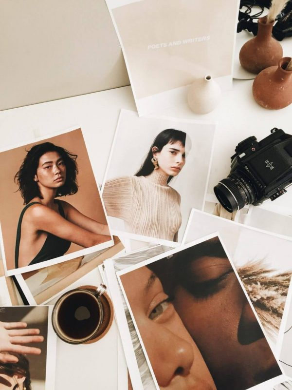 Moodboard inspiration with coffee and film camera by Kayla Mendez